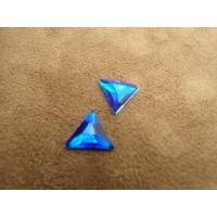 strass triangle bleu ,12 mm vendu par 10 pièces