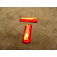 strass rectangulaire rouge,25 mm x 8 mm,vendu par 10 pièces