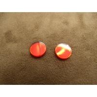 strass effet miroir rouge 11 mm,vendu par 10 pièces