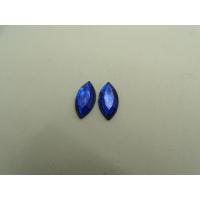 strass ovale bleu,15 mmx 8 mm, vendu par 10 pièces