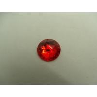 strass rond rouge,18 mm,vendu par 10 pièces