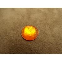 strass rond orange,18 mm,vendu par 10 pièces