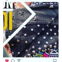 customisation de veste en jean's avec nos clous