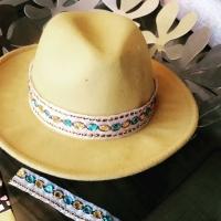 customisation d'un chapeau avec notre ruban