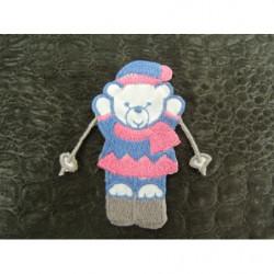 dentelle calais carmen fleurs- 3cm- rouge