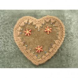 collier perle acrylique - 70 cm- noir