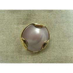 ruban 1/2 perles-13mm- doré