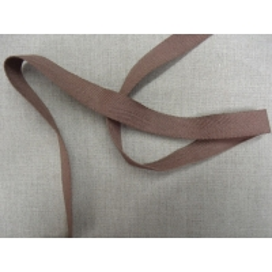 ruban sergé 2cm- marron foncé