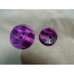 ruban velours- 17mm- gris