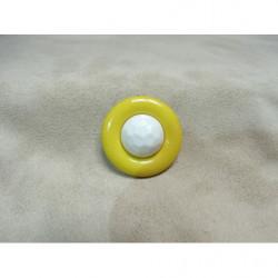 BIAIS LIBERTY- 25mm- fond noir & fleurs rose