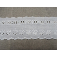 Broderie anglaise coton blanche,5,5 cm