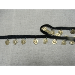 ruban piece suspendu noir et doré