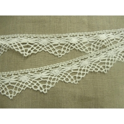ruban brodé crochet -4cm- blanc