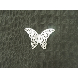 papillon en relief argent