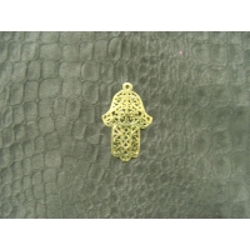 main acrylique doré