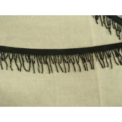 ruban frange perlé noir