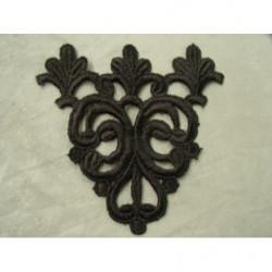 cordon polyester & coton- 5mm- gris