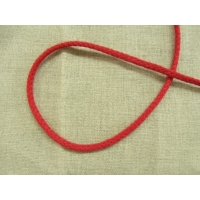 cordon polyester & coton - 4mm- rouge