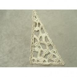cordon polyester & coton- argent lurex