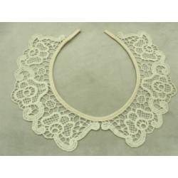 Cordon moucheté fluo en polyesther - jaune
