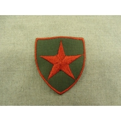 écussons militaires à coudre motif etoile rouge