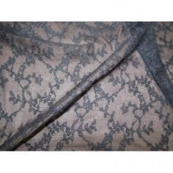 écusson rosace - à coudre- noir - motif strass- rose