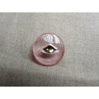 bouton rose transparent et or