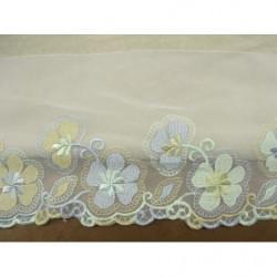 bouton carré argent à 2 trous