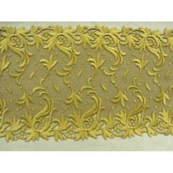 bouton carré noir et or