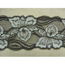 COLS PERLES-Applique rectangulaire à coudre perles et cabochons