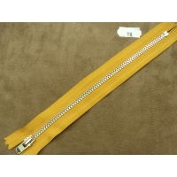 FERMETURE METALIQUE- 18 cm- JAUNE MOUTARDE
