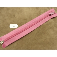 FERMETURE SEPARABLE- 20 cm- ROSE