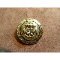 BOUTONS MILITAIRES- OR- ancre marine