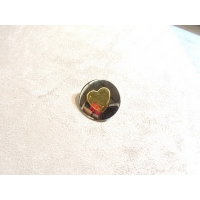 BOUTON COEUR  OR & ARGENT