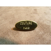 BOUTON MOTIF: COUTURE PARIS- OR