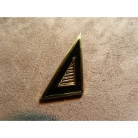 BOUTON MANCHETTE TRIANGLE - NOIR & OR