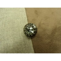bouton strass gris