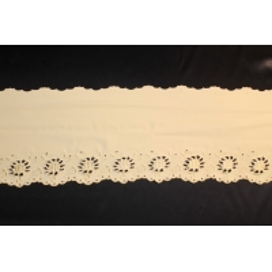 dentelle blanche elastane