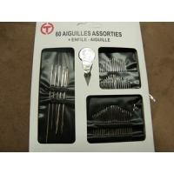60 AIGUILLES ASSORTIES + ENFILE AIGUILLE