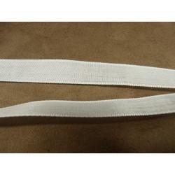 ruban 1/2 perles- 13mm- argent