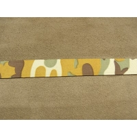 RUBAN MILITAIRE CAMOUFLAGE - 1,5 cm- BEIGE