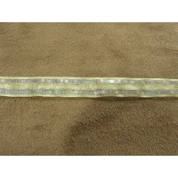 RUBAN ORGANZA-1 cm-GRIS PERLE