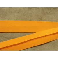 RUBAN BIAIS- 20 mm INTERIEUR /10 - 10 mm- COTON -ORANGE