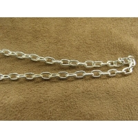 CHAINE METAL - 6 mm /4mm  - ARGENT
