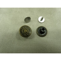 BOUTON JEAN 'S - 15 mm -  MORGAN BRONZE