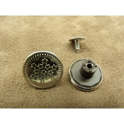 BOUTON JEAN 'S - 17 mm -  ETOILE ARGENT