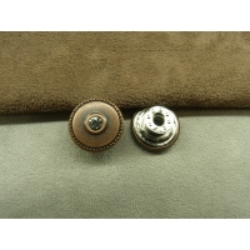 BOUTON JEAN 'S - 17 mm -  cuivre strass argenté