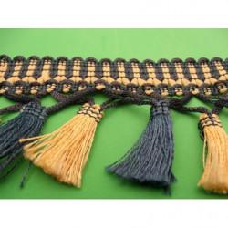 tissu coton imprimé noir fleur rouge , jaune & blanc