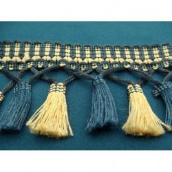 tissu coton imprimé fleur marron et orange