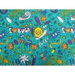 tissu coton imprimé  happy birthday- vert
